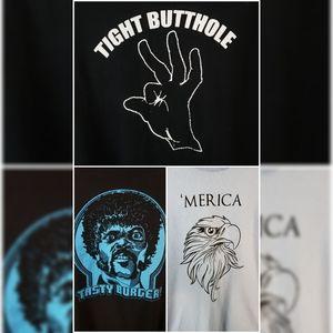 Set of 3 Novelty Tshirts Large